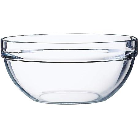 Arcoroc 10021 Saladier Empilable 23 cm, 2,9 L, verre trempé, Transparent