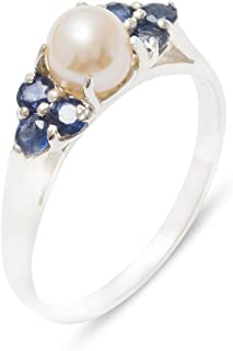Best pearl and sapphire ring Reviews