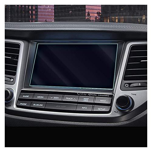 Navigazione auto Vetro Temperato Screen Protector Acciaio Portective Film Fit per Hyundai Tucson 2015 2016 2017 Car Styling Accessori (Pellicola trasparente)
