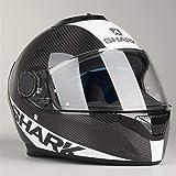 Shark casco de moto Spartan Carbon Skin DWS, Negro/Blanco, talla M