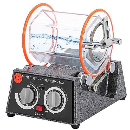 Huanyu KT6808 磁気バレル研磨機 ロータリーバレル サビ取り ジュエリー/アクセサリー/金属/パーツ研磨 (小型)