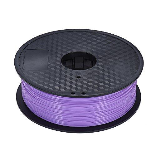 Aibecy Filamento PLA opcional de color 1 kg/rollo 2,2 lb 1,75 mm para MakerBot Anet RepRap 3D Printer Pen Púrpura