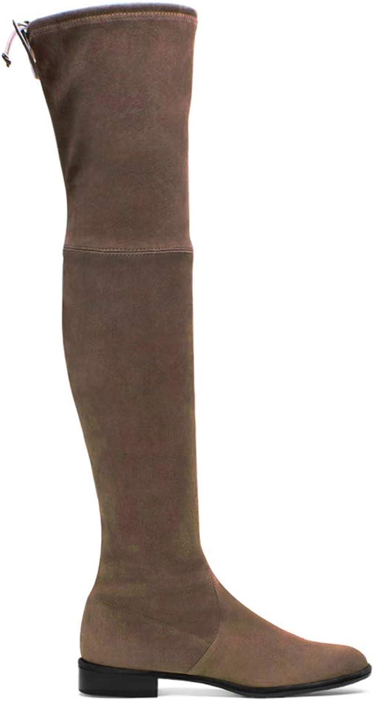 Charles Albert kvinnor Stretch mocka Lycra Över Knee Knee Knee Thigh High Peep Toe stövlar  grossist billig och hög kvalitet