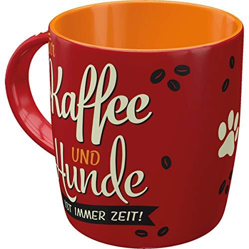 Nostalgic-Art Retro Kaffee-Becher - PfotenSchild - Kaffee und Hunde, Große Lizenz-Tasse PfotenSchild-Motiv, Vintage Geschenk für Hunde-Fans, 330 ml