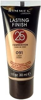 Rimmel Lasting Finish 25 Hours Foundation, Light Ivory, Number 091, 30 ml