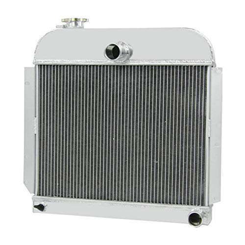 OzCoolingParts 4 Row Core Aluminum Radiator for 1941-1952 43 44 50 51 Plymouth Special Deluxe/Deluxe/Station/Wagon/Suburban/Cranbrook/Concord/Cambridge/P-Series and More, 3.3 3.6 3.8 L6