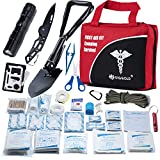 First Aid Kit Home Comprehensive 25 Items 131 Piece Soft Case Bag for Camping Hiking Car Emergency Survival Outdoor Sports Office by DIGGOLD