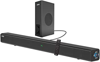 Sound Bars for TV, COSOOS 60W 33.5inch Soundbar with Subwoofer,Bluetooth 5.0, 2.1 Channel, Screen Display, Remote, Home Th...