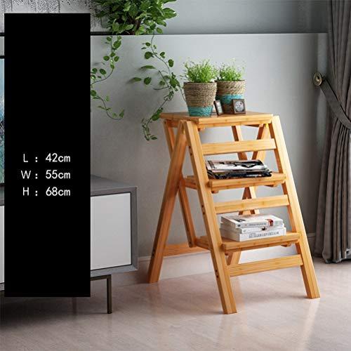 FDR Multifunctionele Ladder Plank Thuis Keuken Bibliotheek Zolder Ladder Kruk Bamboe Ladder Kruk Vouwen 4.14