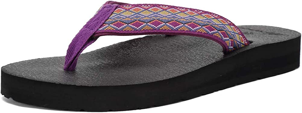 EQUICK High order Women's Flip Flops Now on sale Arch Support Ca Insole Mat Yago Sandal