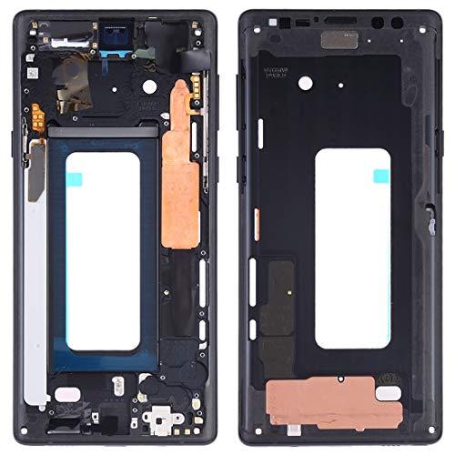 SCREENCOVER+ / Placa del bisel del marco medio con las llaves laterales para Samsung Galaxy Note9 SM-N960F / DS, SM-N960U, SM-N9600 / DS , Reemplazo LCD PLACA PLACA ATRÁS BIELEL ( Color : Negro )