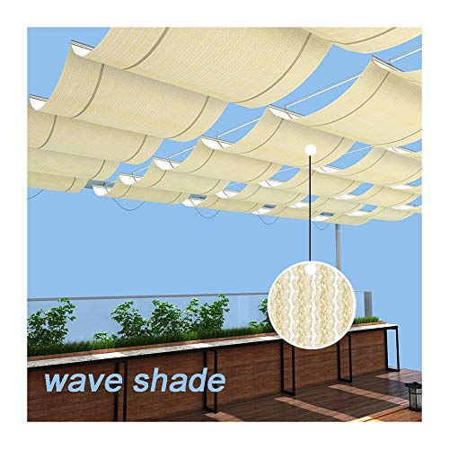 GDMING Vela De Sombra Retráctil Ola Pabellón Toldo Protector Solar Respirable Reemplazo Cubierta De Pérgola para Terraza Porche Restaurante Café Tamaño Personalizado Poliéster