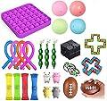 Juguete sensorial fidget set de herramientas para apretar bolas para aliviar el estrés y la ansiedad, juguete para niños adultos, bola sensorial, bola de mármol Push Pop Bubble Squeeze Mesh Ball de