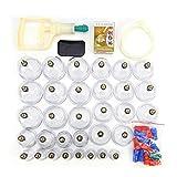 Conjuntos de terapia de ventosas, Conjuntos de terapia de ventosas de acupunto chino profesional, 32 tazas Kit de ventosas de succión al vacío Set de ventosas de masaje para la familia