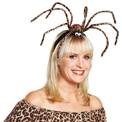 NET TOYS Bandeau araignée léopard | Coiffure Halloween | Tarentule Serre-tête | Coiffure Veuve Noire