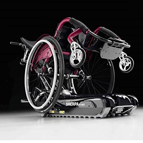 Montascale mobile a cingoli per anziani e disabili, Sicuro, Facile utilizzo, dotato di appoggia collo, prodotto medico certificato