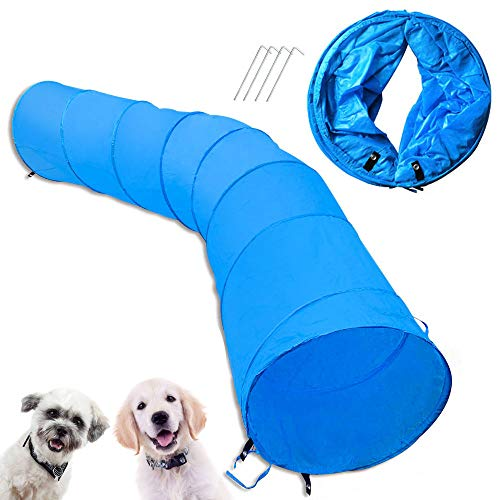 Cossy Home Collapsible Cat Tunnel Tube Kitty Tunnel Pet Toys Peek Hole for Cats, Puppy, Dogs, Kittens, Rabbits (3 Size) (118inch)