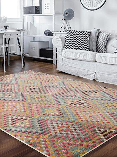 Benuta Teppich Casa, Kunstfaser, Multicolor, 140 x 200.0 x 2 cm