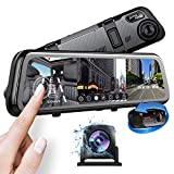 Pruveeo J20 Three and Dual Channel Dash Cam, 3 Way Dash Camera for Cars, Streaming Dash Cam Front and Rear with Infrared Night Vision, GPS, 11 inch Screen, Parking Monitor Assistance, G-Sensor