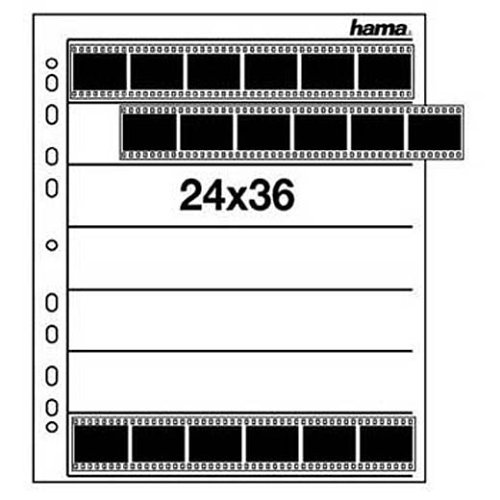 Hama Negativarchivierungshüllen (Polypropylen) für je 7 Kleinbild-Streifen à 6 Bilder (25 St.)