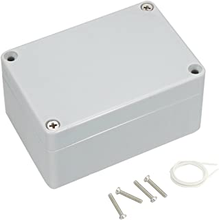 "Awclub Waterproof Dustproof IP65 ABS Plastic Junction Box Outdoor Universal Electric Project Enclosure Gray 3.9""x2.7""x2""(100mmx68mmx50mm)"