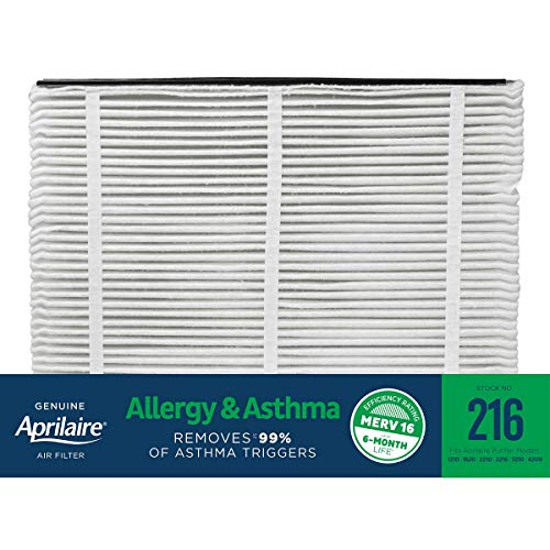 Aprilaire 216 Allergy and Asthma Air Filter for Aprilaire Whole-Home Air Purifiers, MERV 16