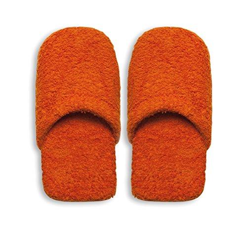 Excelsa Bagno Caldo Pantuflas de baño para Mujer, Esponja, Naranja, 27.5 x 11 x 3 cm, 2