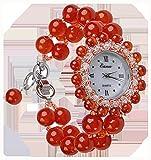 CHXISHOP Reloj de pulsera de amatista natural reloj de cuarzo...