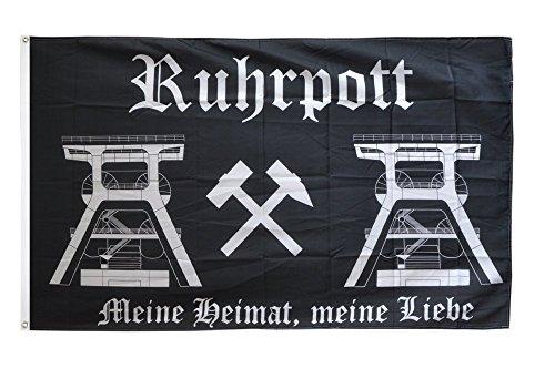 Flaggenfritze Fahne/Flagge Deutschland Ruhrpott Ruhrgebiet 2 + gratis Sticker