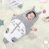 ASMCY Baby Safe Schlafsack Tragbare Bequem Atmungsaktiv Baumwolle Decke Anti Kick Cartoon Babyschlafsack Unisex Kinderschlafsack, Ohne Ärmel mit Reißverschluss (Totoro, 0-2 Jahre),85 x 57CM