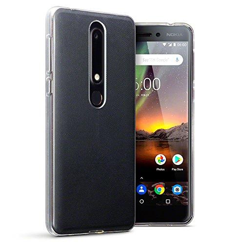 TERRAPIN, Kompatibel mit Nokia 6 2018 / Nokia 6.1 Hülle, TPU Schutzhülle Tasche Hülle Cover - Transparent