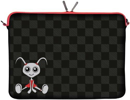 Digittrade LS160-10 Filly Designer Tablet Schutzhülle 9,7 Zoll für Medion p9701, Samsung Galaxy Tasche 10 und 10.1 bis 10,2 Zoll (25,9 cm) grau schwarz rot