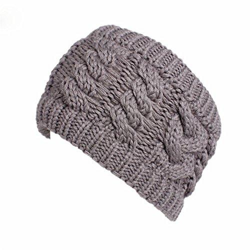 Fashionshao Woolen hoofdband dames hand gehaakte haarband
