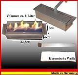 Kaminbau Mierzwa - Quemador de acero inoxidable para chimeneas de gel y etanol