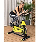 Lifetech Upright <span class='highlight'>Exercise</span> <span class='highlight'>Bike</span> Cycling Spinning Fitness Indoor Stationary, Adjustable Handlebars & Seat & Resistance, 6-Function Monitor, Studio Cycles Aerobic Training, Flywheel,Home Office Use