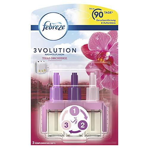 Febreze 3Volution Duftstecker (20 ml) Thai Orchidee, Nachfüller, Raumduft und Lufterfrischer