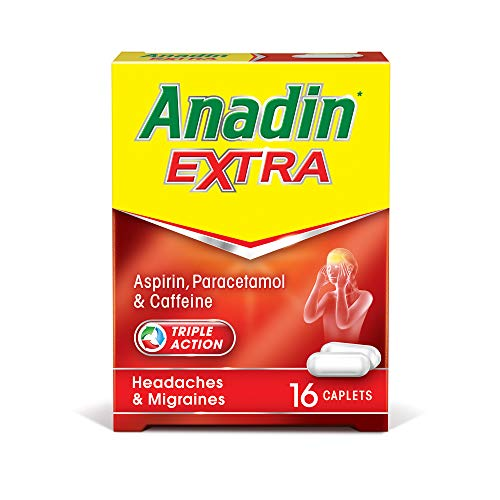 Anadin Extra contains Aspirin, Paracetamol and Caffeine