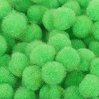 ふわふわ クラフトポンポンズ 小さい ポンポンボール 可愛い彩るポンポン 毛球 児童DIY手作り 飾り素材 クラフト ボール 18mm 約200個 全9色選べ - 緑