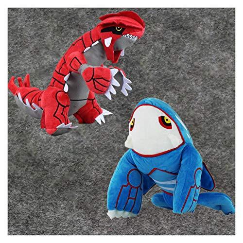 JSJJAWS Cuddly Plush Toys Anime Plush Toy 24cm-30cm Kyogre Groudon Stuffed Doll for Kids Gift (Color : One Set)