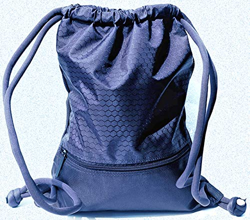 Zaza Bolsa de deporte grande 42/50 c.m impermeable Uni Sex Turnbeutel azul Sporttasche Gymsack con Innentasche