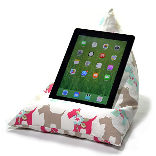 eBean Tablet Cushion - SCOTTIE DOG - beanbag stand lap holder suitable for all iPads tablets and ebook readers