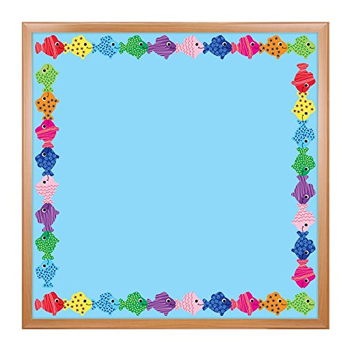 Hygloss Products Assorted Fish Die-Cut Bulletin Board Border – Classroom Decoration – 3 x 36 Inch, 12 Pack