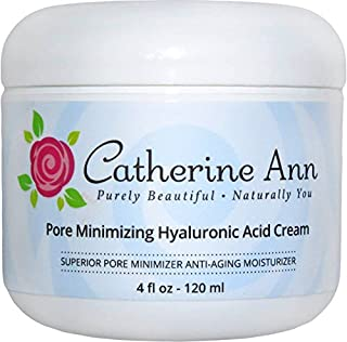 Best Pore Minimizer Hyaluronic Acid Cream By Catherine Ann - Best Facial Moisturizer Oil Free and Anti Aging For Combination- Oily- Acne Skin. Day and Night Cream- 70% Organic