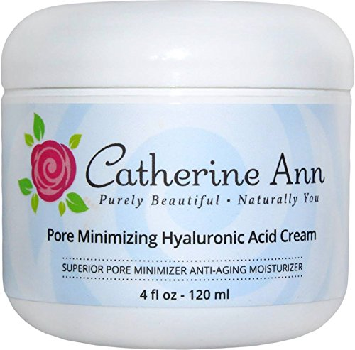 Pore Minimizer Hyaluronic Acid Cream by Catherine Ann - Oil Free Anti Aging Facial Moisturizer for Combination- Oily and Acne Skin. Day and Night Gel...