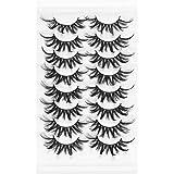 8 Pairs 3D Mink False Eyelashes Natural Wispy Fluffy Dramatic Volume Fake Lashes Extension Handmade Cruelty-free Eyelash(A6)