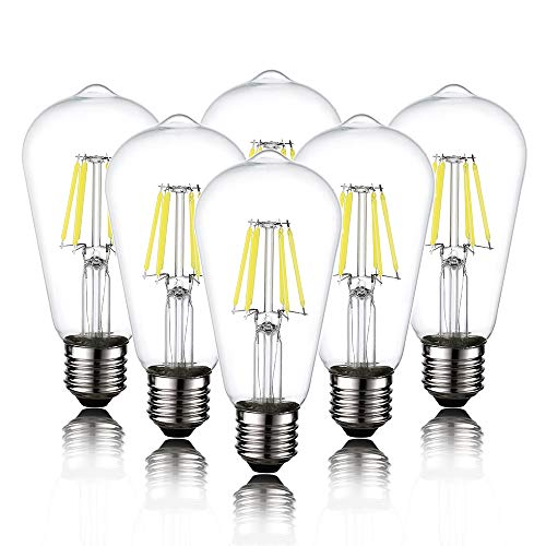 6-Pack Edison LED Light Bulb for Ceiling Fan, ST58 E26 E27...
