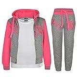 A2Z 4 Kids® Enfants Filles Garçons Baseball Survêtement NYC Fox Veste - T.S Baseball NYC Grey Neon Pink 9-10.1