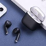 Naack Auriculares Bluetooth Inalámbricos sin Cable, Tactil Resistentes al Agua -Manos Libres para Correr, Bici, Gimnasio, Resistente al Agua IPx7, Doble micrófono.Negro
