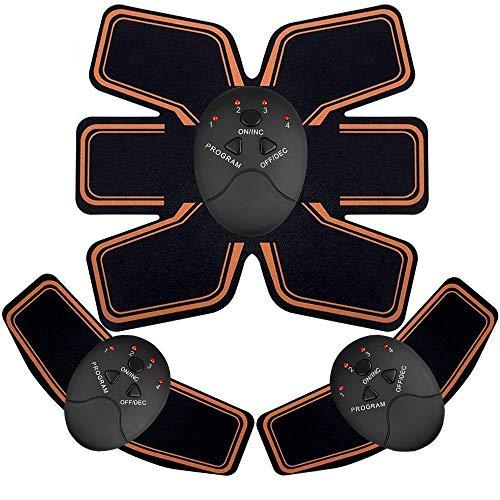 EGEYI EMS Stimolatore Muscolare,Addominale Tonificante Cintura ABS, Trainer Wireless Portatile per Addome/Braccio/Gamba per Uomo o Donna