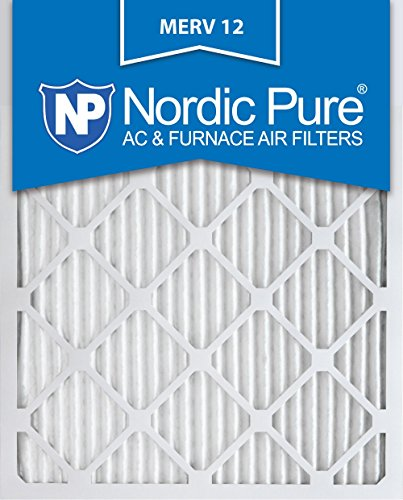 Nordic Pure 16x25x1 MERV 12 Pleated AC Furnace Air Filter, Box of 6 (Renewed)